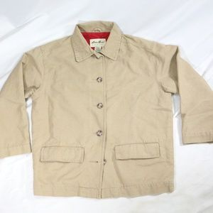 EDDIE BAUER Khaki Tan Button Down Jacket